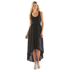 LC Lauren Conrad Colorblock All Black HighLow Maxi